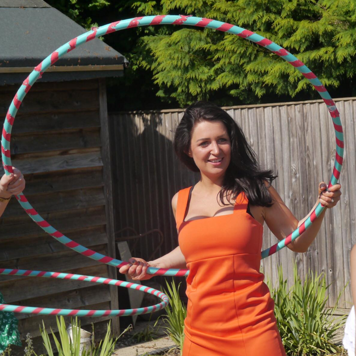 A Garden Party with cocktails and hula hooping