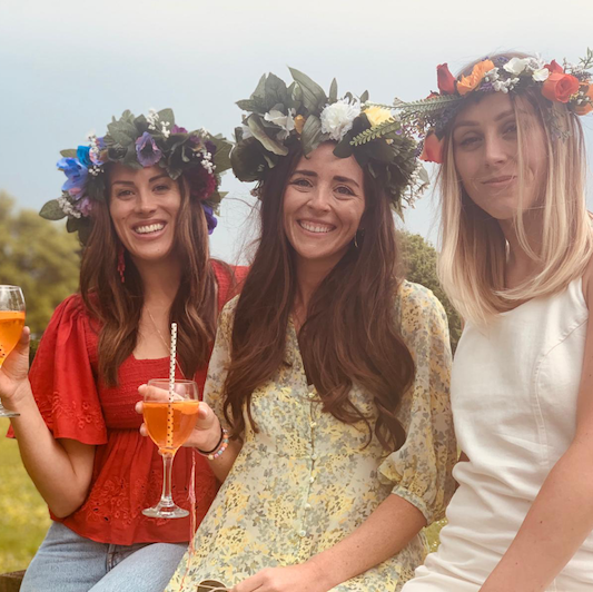 PRIVATE CHEF & FLOWER CROWNS IN THE COUNTRY